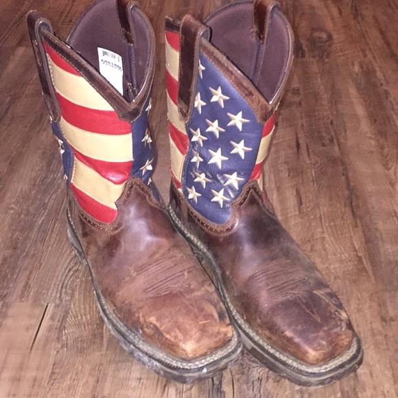 01d1289ff91 Durango Steel Toe American Flag boots